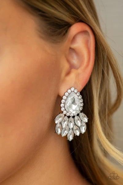 A Breath of Fresh HEIR - White Earrings