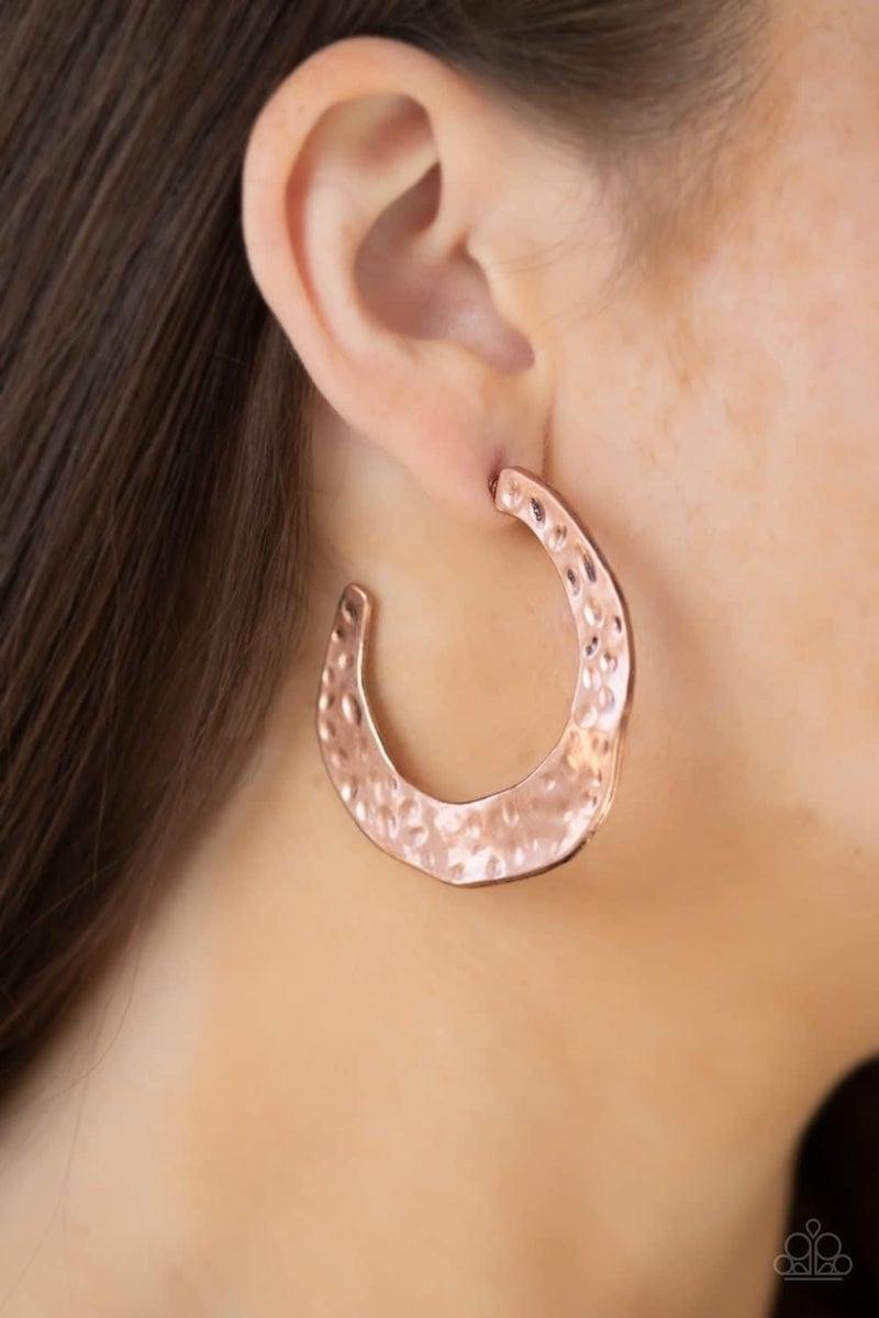 The HOOP Up - Copper Hoop Earrings