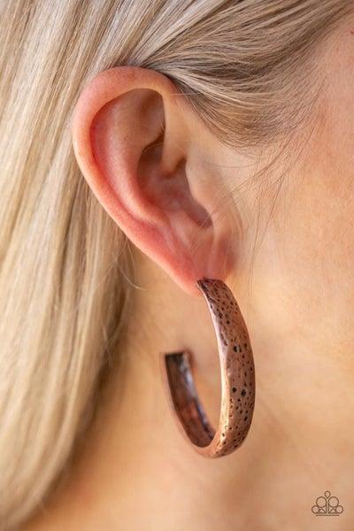 Rustic Revolution - Copper Hoop Earrings