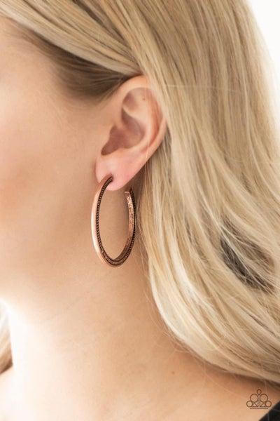 This Is My Tribe – Copper Hoop Earrings