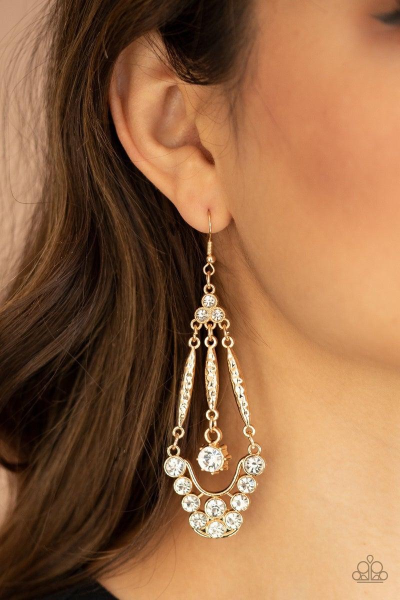 High-Ranking Radiance - Gold Earrings