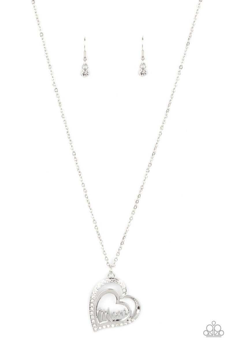 A Mothers Heart - White Necklace