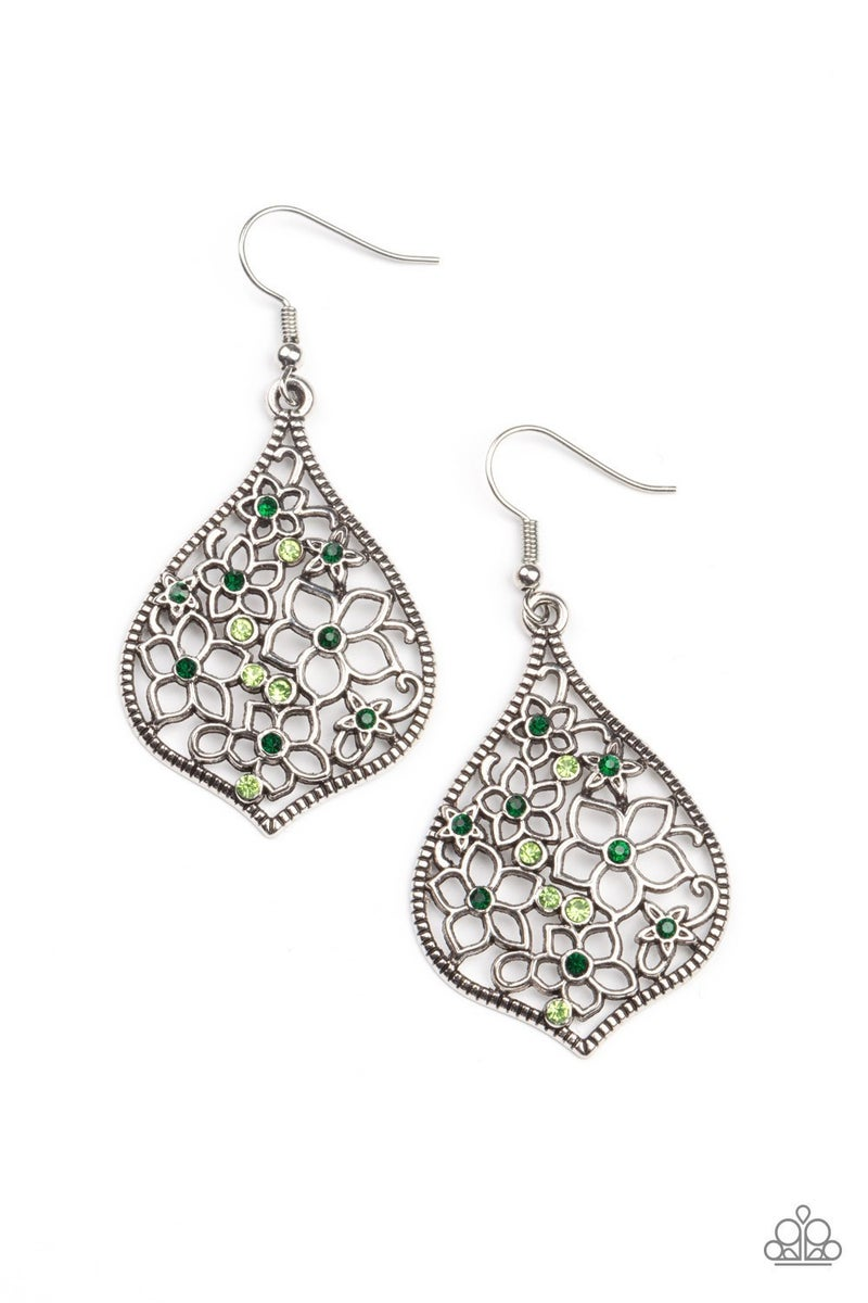 Full Out Florals - Green Earrings