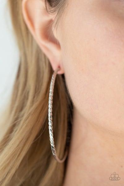 Voluptuous Volume - Silver Hoop Earrings