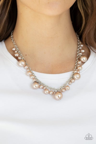 Uptown Pearls - Brown Necklace