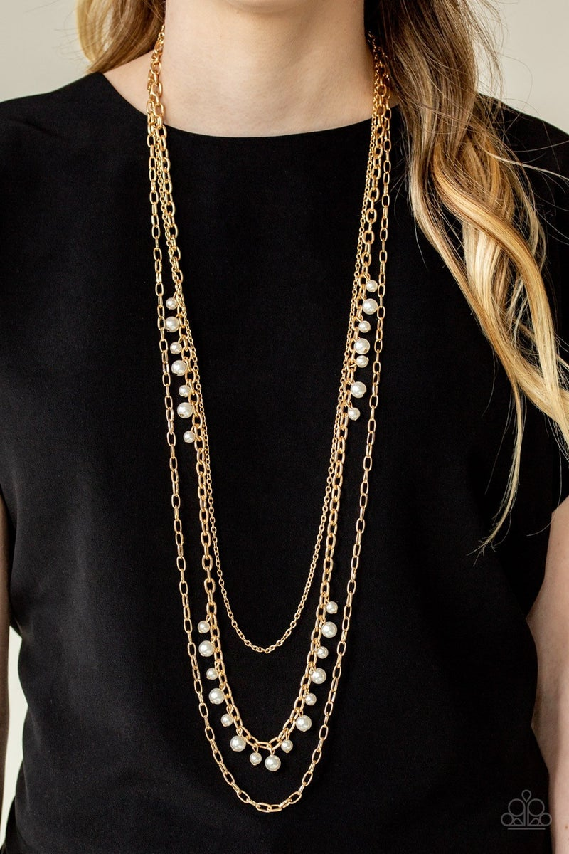 Pearl Pageant - Gold Necklace
