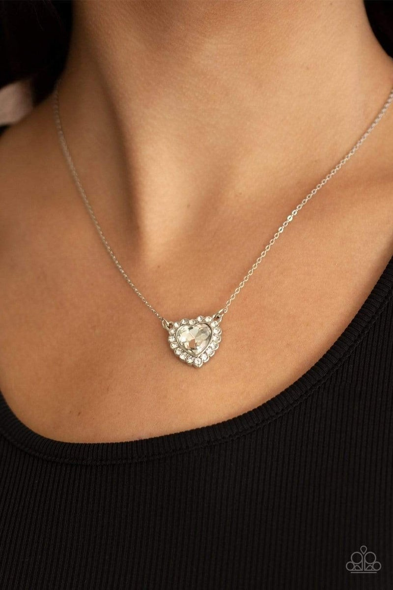 Out of the GLITTERY-ness of Your Heart - White Necklace