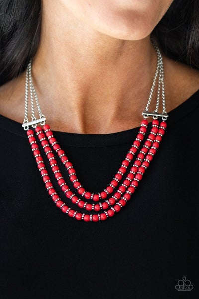 Terra Trails - Red Necklace