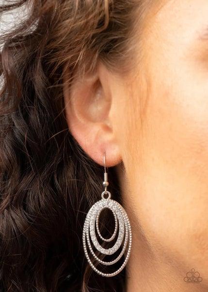 Date Night Diva - White Earrings