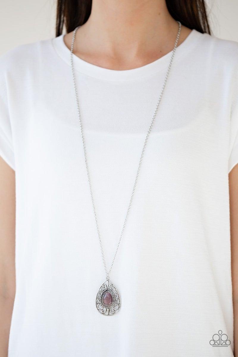 Modern Majesty - Purple Necklace