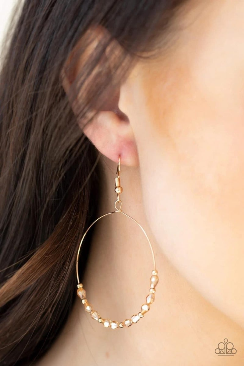 Prize Winning Sparkle - Gold Earrings