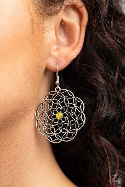 Botanical Bash - Yellow Earrings