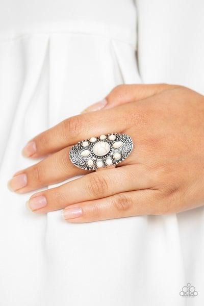 Stone Sunrise - White Ring