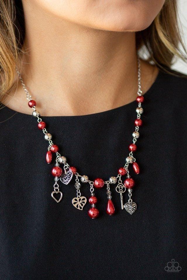 Renaissance Romance - Red Necklace