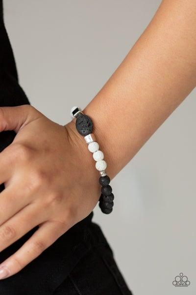Unwind - White Lava Bracelet