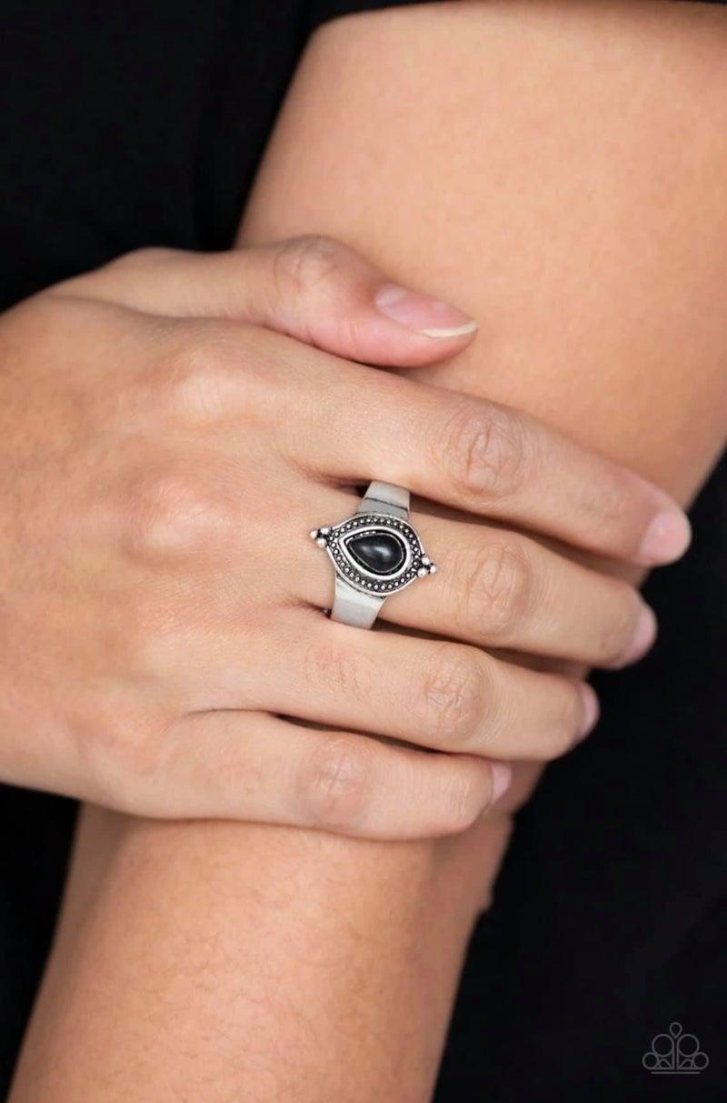 Mineral Minimalist - Black Ring