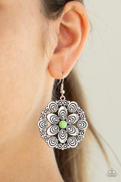 Grove Groove - Green Earrings
