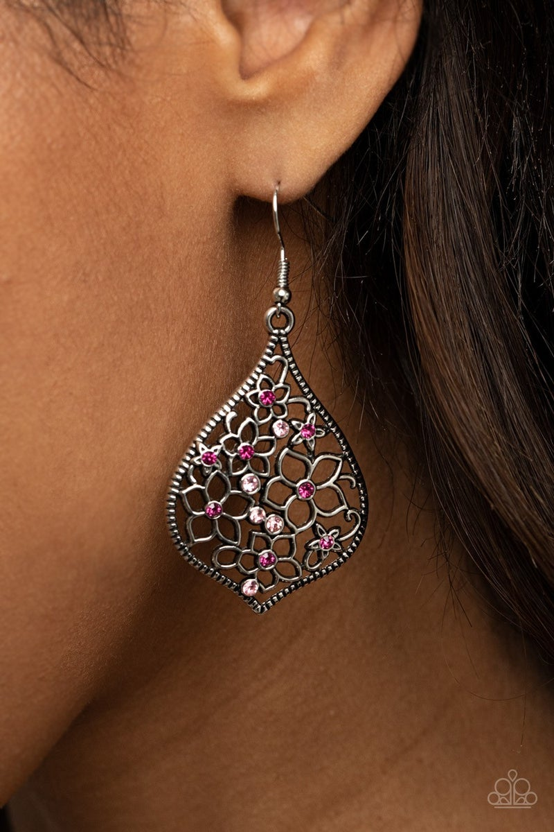 Full Out Florals - Pink Earrings