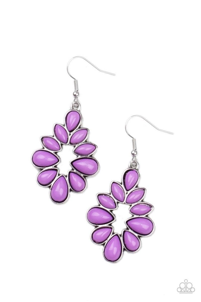 Burst Into TEARDROPS - Purple Earrings