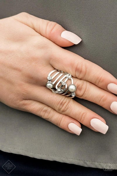 Dancing Diamonds - White Ring