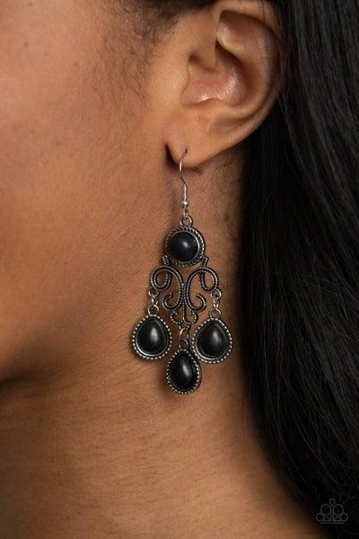 Canyon Chandelier - Black Earrings