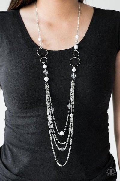 Bubbly Bright - White Necklace