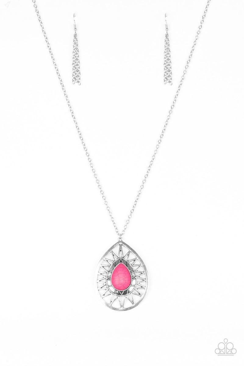 Summer Sunbeam - Pink Necklace
