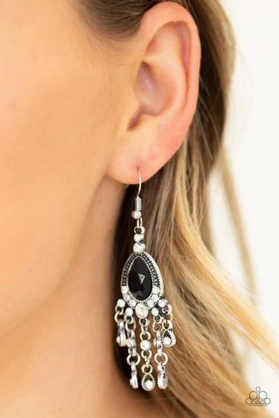 Bling Bliss - Black Earrings