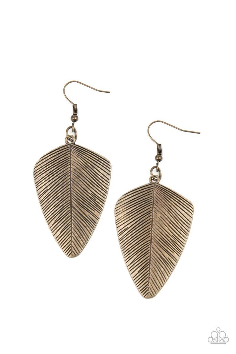 One Of The Flock - Brass Earrings