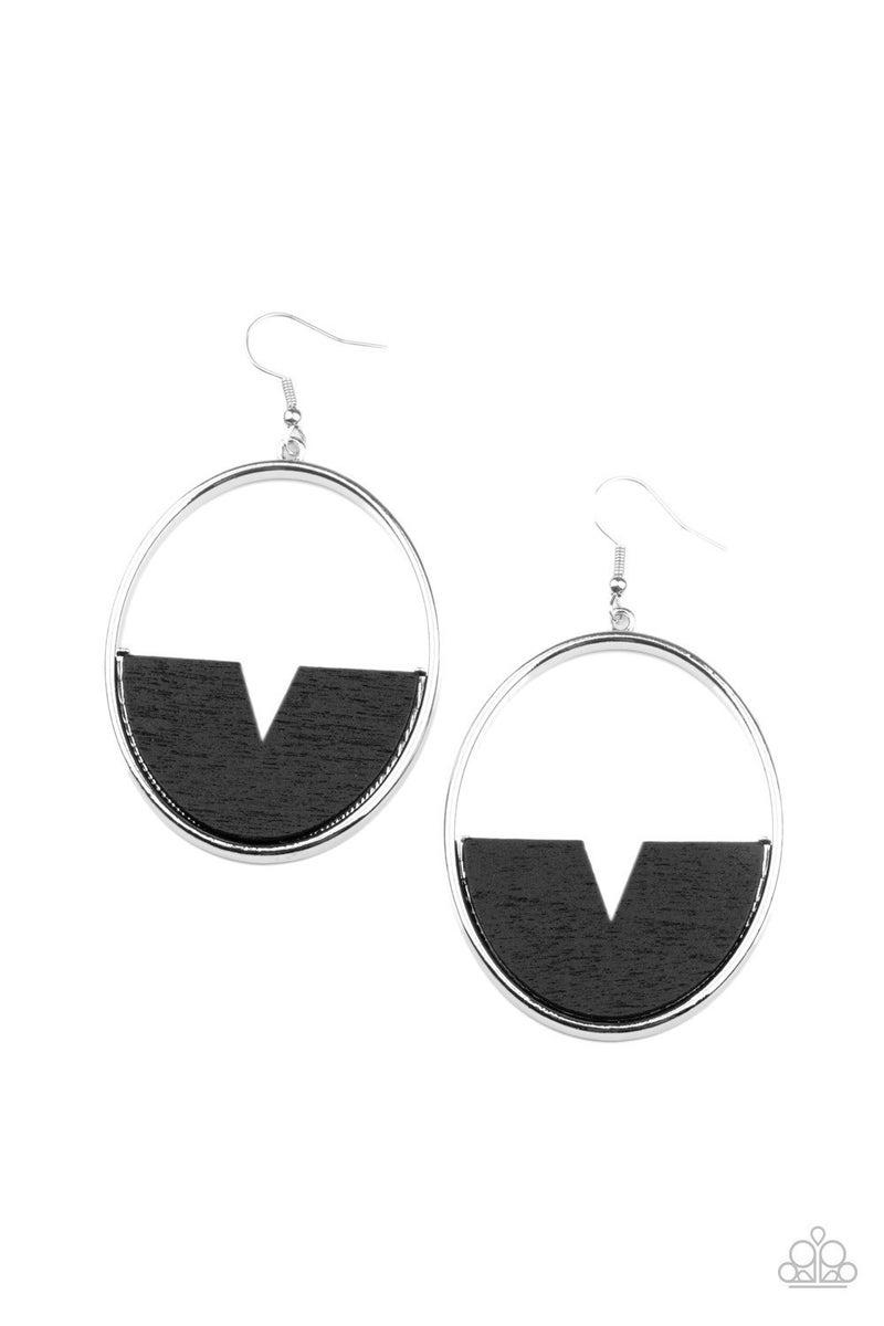 Island Breeze - Black Earrings