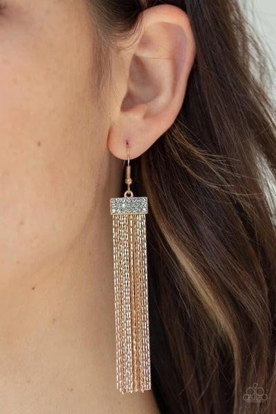 Twinkling Tapestry - Gold Earrings