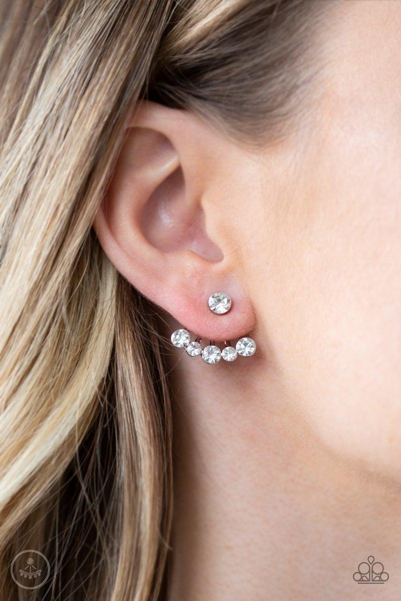 Jeweled Jubilee - White Earrings