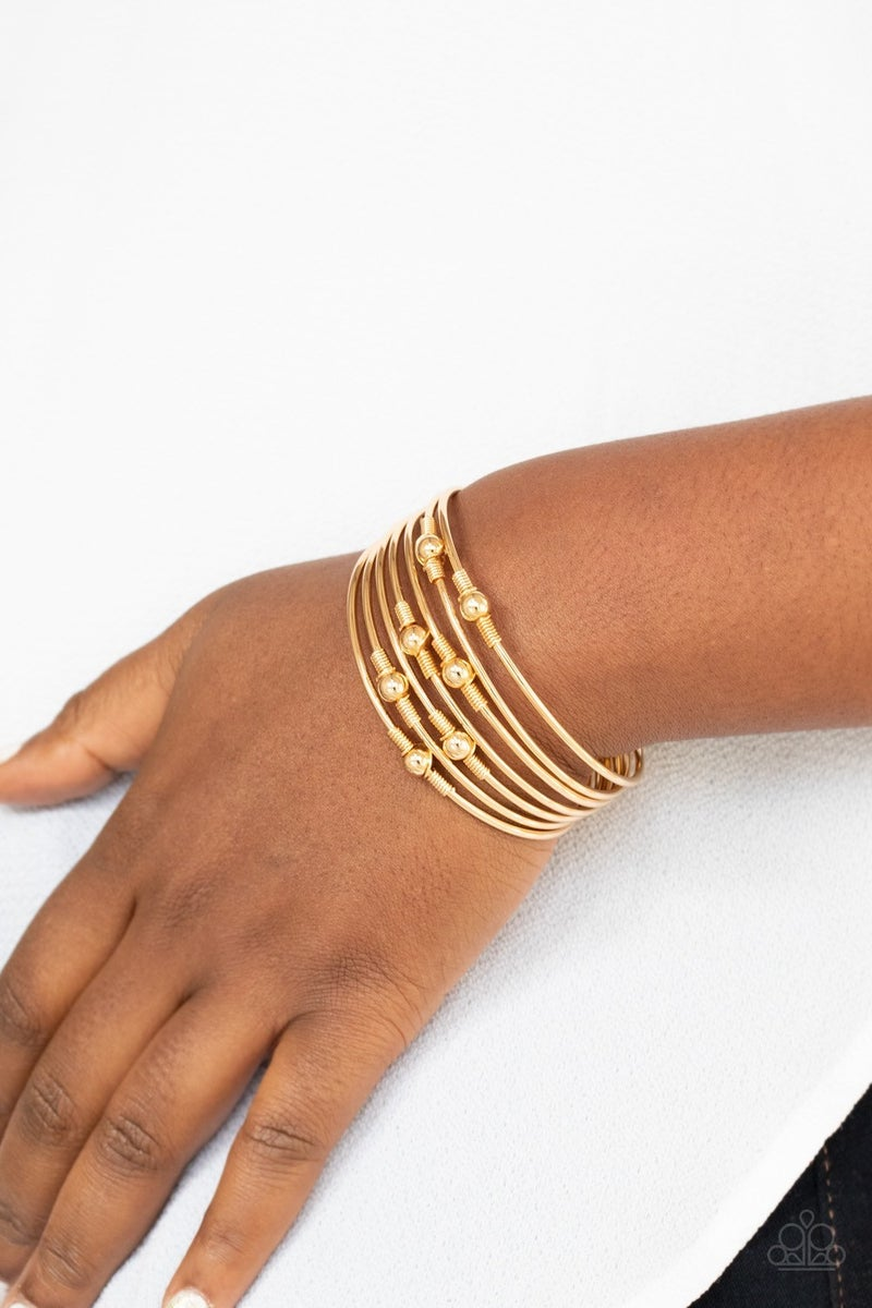 Industrial Intricacies - Gold Cuff