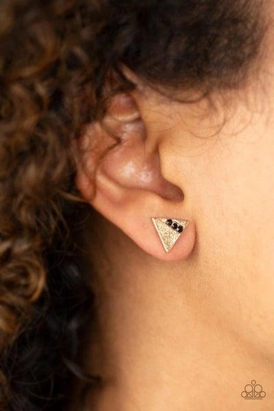 Pyramid Paradise - Gold Earrings