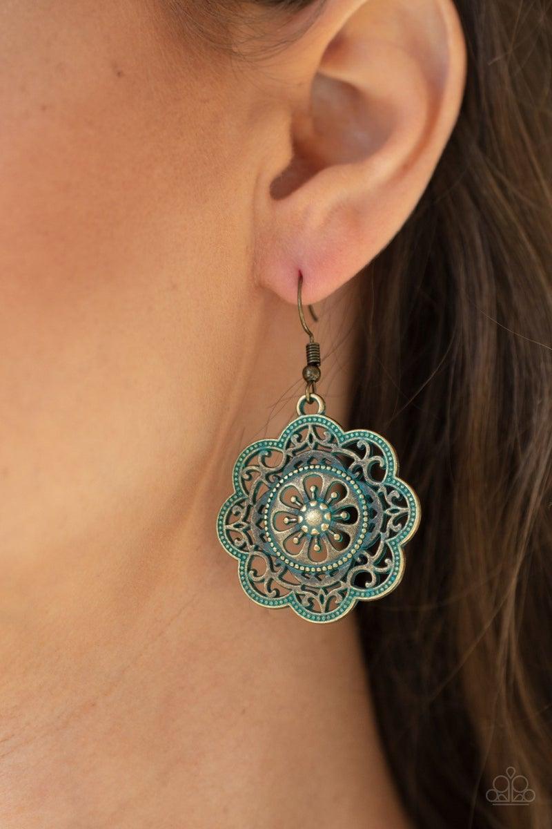 Western Mandalas - Brass Earrings