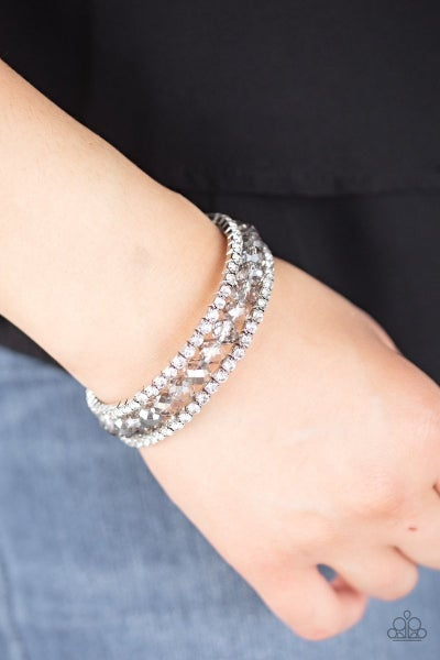 GLAM-ified Fashion - Silver Coil Wrap