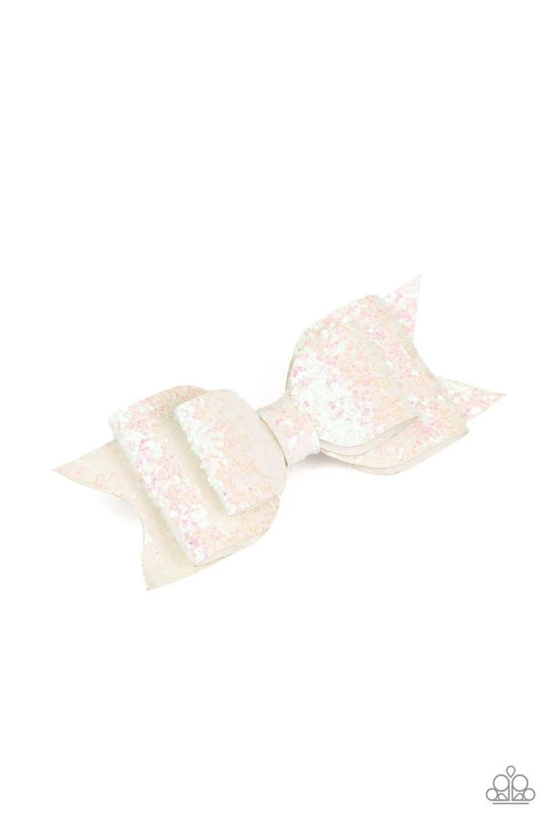 Put a Bow On It -  White Hair Clip