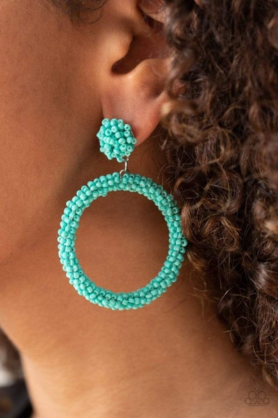Be All You Can BEAD - Blue Earrings