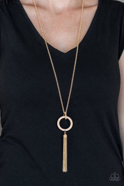 Straight To The Top - Gold Necklace