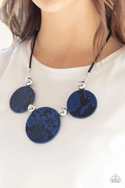 Viper Pit - Blue Necklace