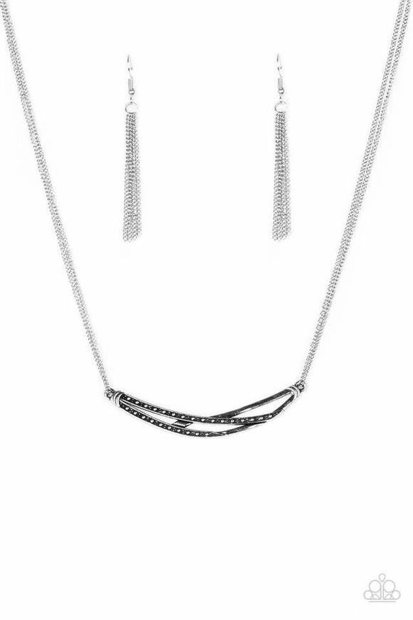 Moto Modern - Silver Necklace