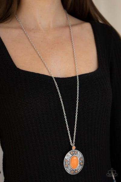 Sunset Sensation - Orange Necklace