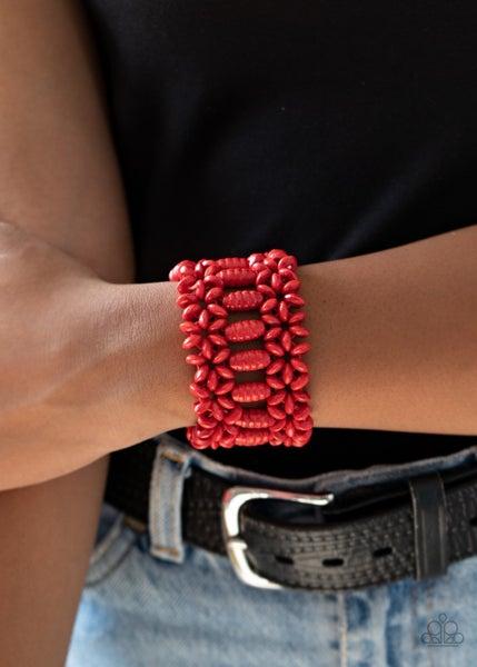 Fiji Flavor - Red Stretchy Bracelet
