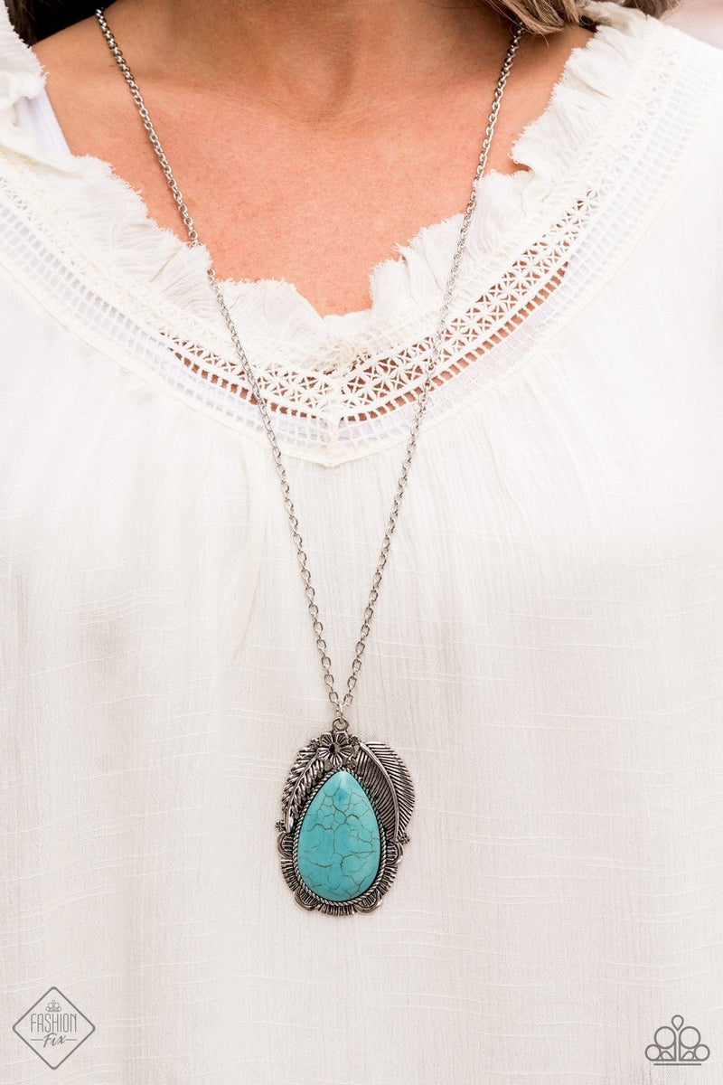 Tropical Mirage - Blue Necklace - May 2021 Fashion Fix