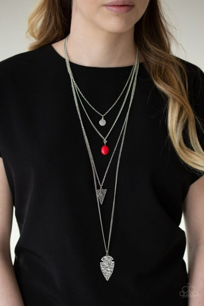 Grounded in Artifact - Red Necklace