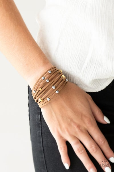 Colorfully Coachella - Yellow Clasp Bracelet