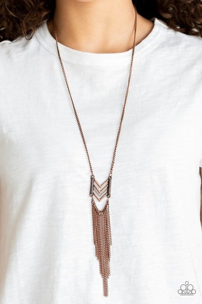 Point Taken - Copper Necklace