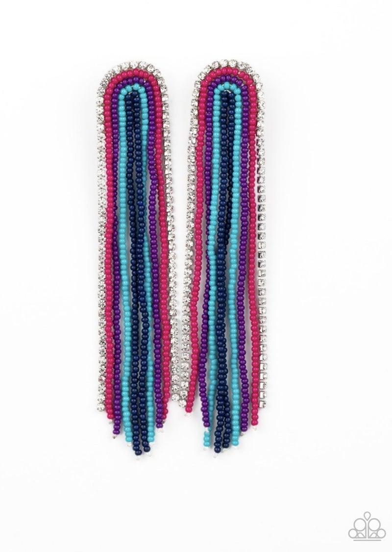 Let There BEAD Light - Multi/Blue Earrings