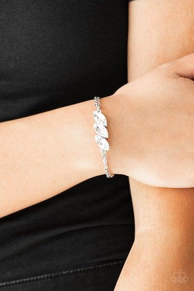 Pretty Priceless - White Clasp Bracelet