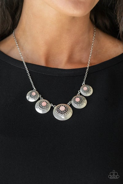 Solar Beam - Pink Necklace